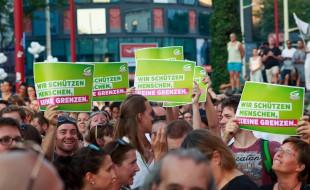 Bild von der Kundgebung am 30.8.2015