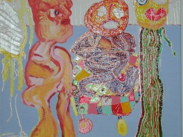 Gemälde mit drei Fiuren